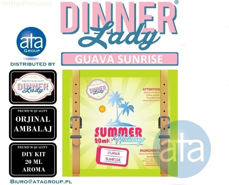 Dinner Lady Guava Sunrise Diy Kit Orjinal Aroma