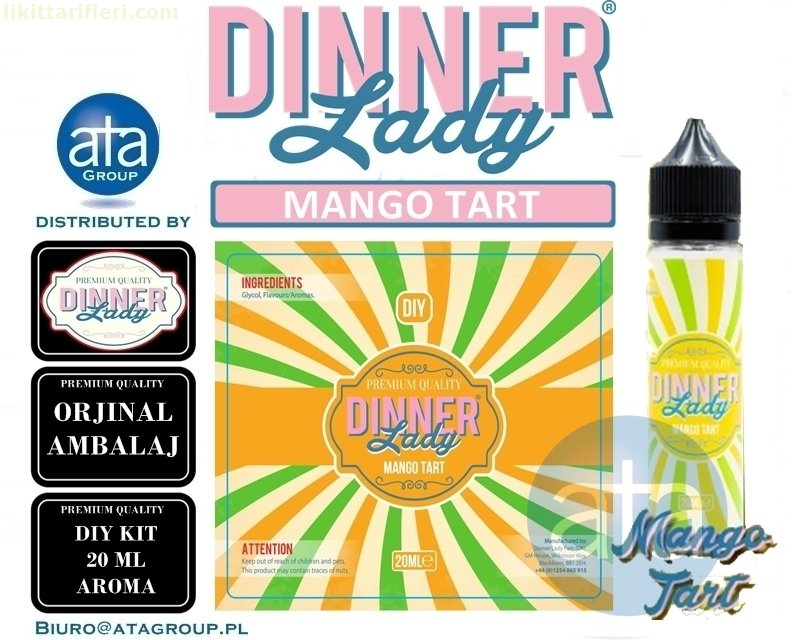 Dinner Lady Mango Tart Diy Kit Orjinal Aroma